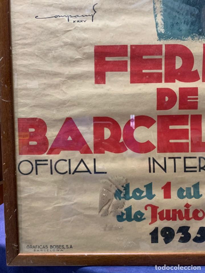 Carteles Feria: CARTEL FERIA BARCELONA OFICIAL INTERNACIONAL 1935 COMPANY SELLO OFICINA TURISMO CATALUNIA 103X66C - Foto 6 - 217023463