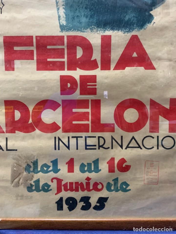 Carteles Feria: CARTEL FERIA BARCELONA OFICIAL INTERNACIONAL 1935 COMPANY SELLO OFICINA TURISMO CATALUNIA 103X66C - Foto 7 - 217023463