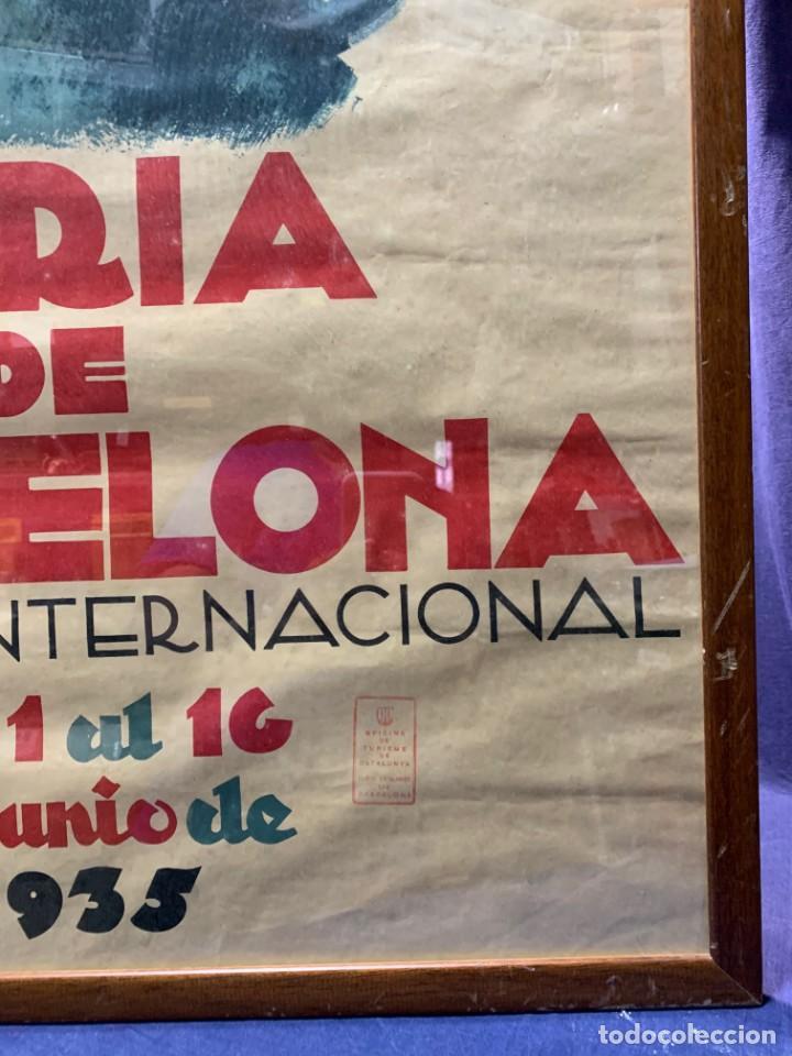 Carteles Feria: CARTEL FERIA BARCELONA OFICIAL INTERNACIONAL 1935 COMPANY SELLO OFICINA TURISMO CATALUNIA 103X66C - Foto 8 - 217023463