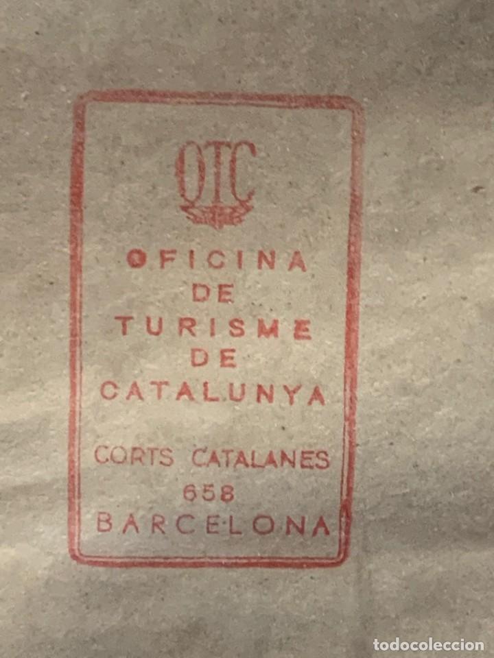 Carteles Feria: CARTEL FERIA BARCELONA OFICIAL INTERNACIONAL 1935 COMPANY SELLO OFICINA TURISMO CATALUNIA 103X66C - Foto 20 - 217023463