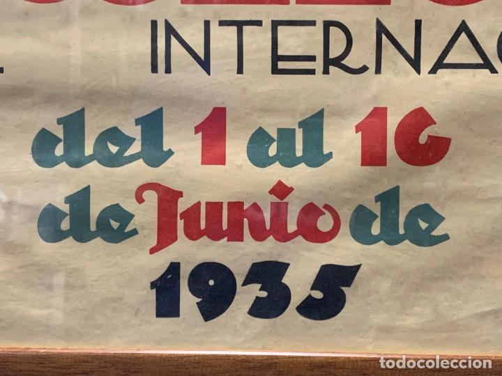 Carteles Feria: CARTEL FERIA BARCELONA OFICIAL INTERNACIONAL 1935 COMPANY SELLO OFICINA TURISMO CATALUNIA 103X66C - Foto 21 - 217023463