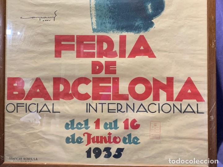 Carteles Feria: CARTEL FERIA BARCELONA OFICIAL INTERNACIONAL 1935 COMPANY SELLO OFICINA TURISMO CATALUNIA 103X66C - Foto 22 - 217023463