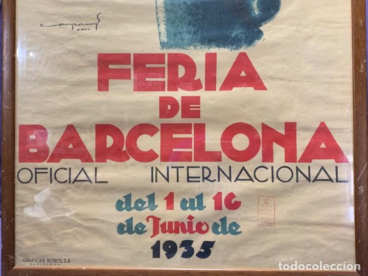 Carteles Feria: CARTEL FERIA BARCELONA OFICIAL INTERNACIONAL 1935 COMPANY SELLO OFICINA TURISMO CATALUNIA 103X66C - Foto 23 - 217023463
