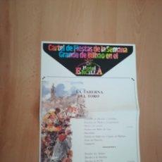 Carteles Feria: FANTÁSTICO CARTEL ASTE NAGUSIA 1989. HOTEL ERCILLA.. Lote 217140578