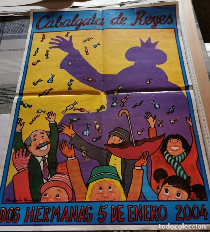 DOS HERMANAS, 2004, CARTEL CABALGATA REYES MAGOS, 50X70 CMS (Coleccionismo - Carteles Gran Formato - Carteles Ferias, Fiestas y Festejos)