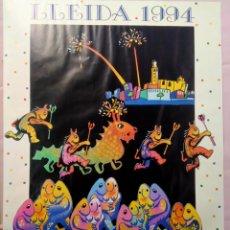 Carteles Feria: DIFÍCIL CARTEL FIESTA MAYOR LLEIDA 1994 67/48 CM.. Lote 217475612