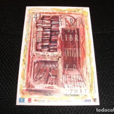 Carteles Feria: CEESEPE POSTAL DE LA FERIA DEL LIBRO EN MADRID 2017. Lote 218745093