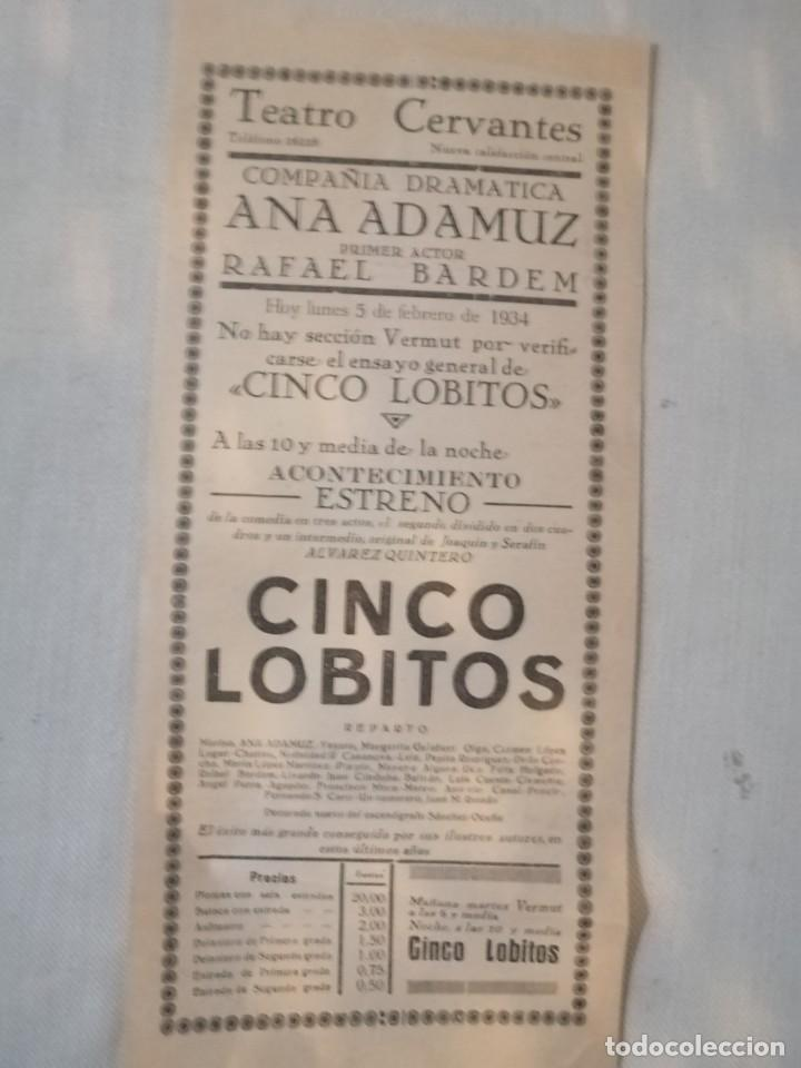 Carteles Feria: Cartel teatro Cervanyes - Foto 2 - 219081781