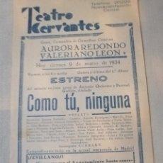 Carteles Feria: CARTEL TEATRO. Lote 219123277