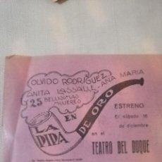 Carteles Feria: CARTEL TEATRO. Lote 219123701