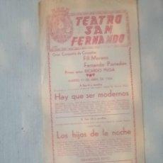 Carteles Feria: CARTEL TEATRO SAN FERNANDO. Lote 219124183