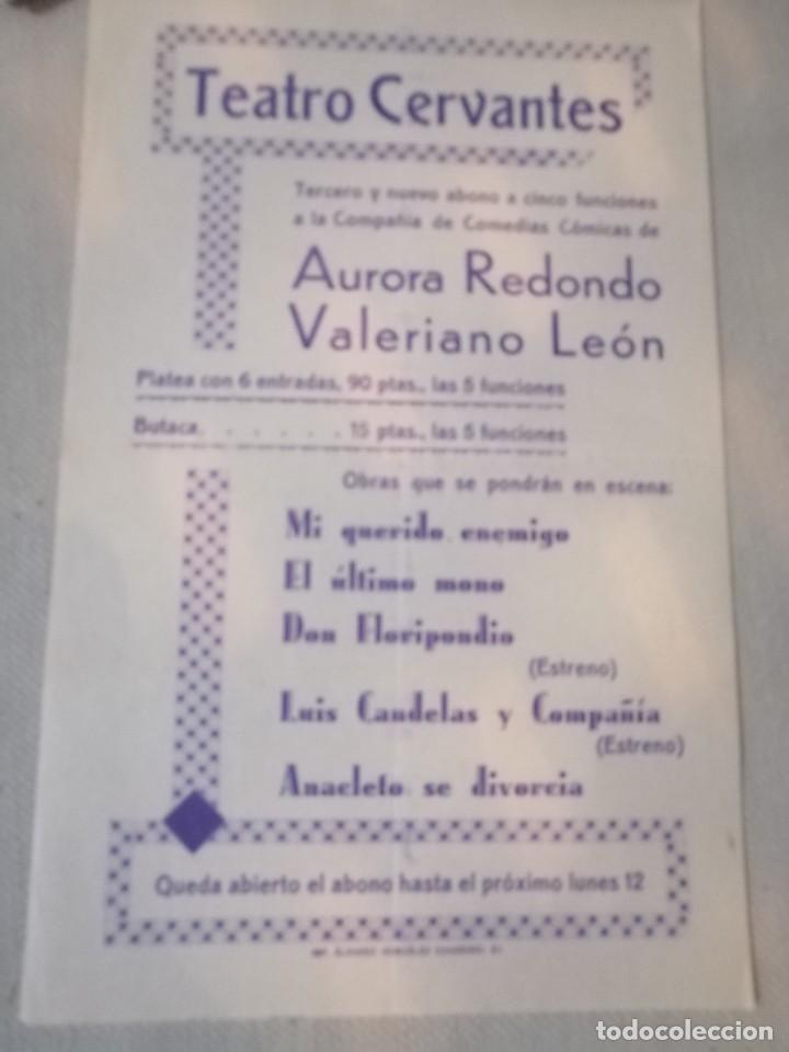 CARTEL TEATRO (Coleccionismo - Carteles Gran Formato - Carteles Ferias, Fiestas y Festejos)