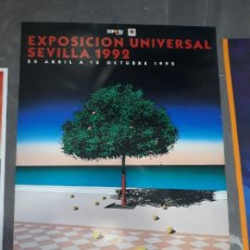 Carteles Feria: 4 CARTELES ORIGINALES EXPOSICION UNIVERSAL SEVILLA 92. Lote 219379538