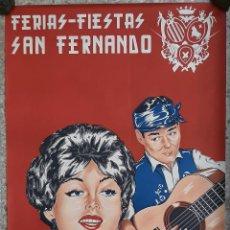 Carteles Feria: CARTEL FERIAS Y FIESTAS DE SAN FERNANDO TERUEL 1964 CASINOS LITOGRAFIA ORIGINAL. Lote 220079835