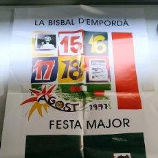 Carteles Feria: CARTEL FESTA MAJOR LA BISBAL D'EMPORDA 1997. Lote 220104171