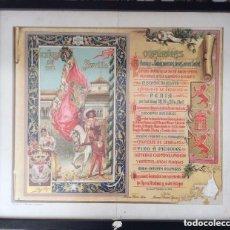 Carteles Feria: CARTEL FERIA DE ABRIL DE SEVILLA 1902 -LITOGRAFÍA ORIGINAL. Lote 220110257