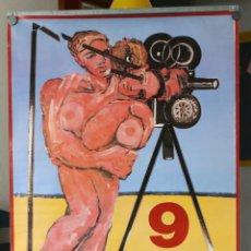 Carteles Feria: CARTEL 9 MOSTRA VALENCIA 1988 - JOSÉ MOREA - CINEMA DEL MEDITERRANI. Lote 220455043