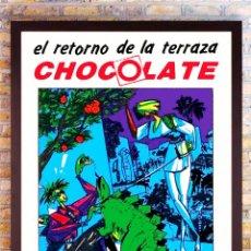 Carteles Feria: CARTEL DE DISCOTECA - CHOCOLATE - APERTURA DE SU TERRAZA AÑO 1990 TAMAÑO 68X46,5 CMS. Lote 221432998