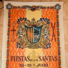 Affiches Foire: MATARO - 27 CARTELES - FIESTAS DE LAS SANTAS - DESDE 1940. Lote 221565321