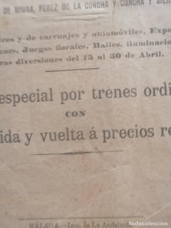 Carteles Feria: Cartel publicidad compañia de los ferrocarriles Andaluces 1907 feria de abril den sevillaSevilla - Foto 3 - 222344228