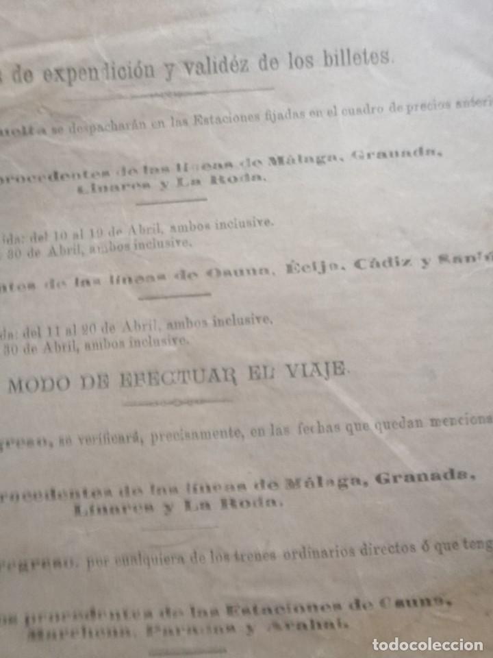 Carteles Feria: Cartel publicidad compañia de los ferrocarriles Andaluces 1907 feria de abril den sevillaSevilla - Foto 6 - 222344228