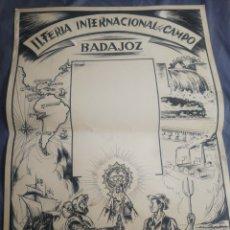Carteles Feria: CARTEL ORIGINAL DE LA II FERIA DEL CAMPO. BADAJOZ. JOSE M. COLLADO.. Lote 222362788