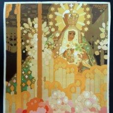 Carteles Feria: CARTEL SEVILLA FIESTAS PRIMAVERA Y SEMANA SANTA 1930 JUAN MIGUEL SANCHEZ MIDE 27 X 40 CMS ORIGINAL A. Lote 222555217
