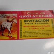 Carteles Feria: ANTIGUA ENTRADA DE CIRCO. CIRCO DE INGLATERRA. Lote 223140932
