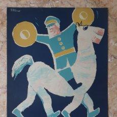 Affissi Fiera: CARTEL ANTIGUO IV GRAN CABALGATA DE BARCELONA 1962. Lote 223395815