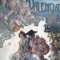 Carteles Feria: GRAN CARTEL FERIA DE JULIO VALENCIA 1906 VILA PRADES MODERNISTA ENMARCADO ORIGINAL. Lote 224075500