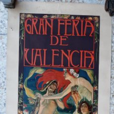 Carteles Feria: GRAN CARTEL FERIA DE JULIO VALENCIA 1903 JOSE MONGRELL MODERNISTA ORIGINAL. Lote 224893378