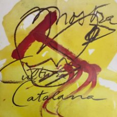 Affissi Fiera: MOSTRA DE CULTURA CATALANA PERPINYÀ. DIBUIX DE TÀPIES 1979. IMP SOFREIX. PAUA DELS REIS DE MALLORCA.. Lote 225780300