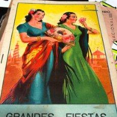 Carteles Feria: GRANDES FIESTAS DE ZALAMEA LA REAL.DEL AÑO 1954. Lote 226925685