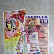Carteles Feria: LOTE DE 38 CARTELES DE TOROS. Lote 227777095