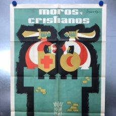 Carteles Feria: VILLENA (ALICANTE) - MOROS Y CRISTIANOS EN HONOR A NTRA SRA. MARIA DE LAS VIRTUDES - SEPTIEMBRE 1961. Lote 227787330