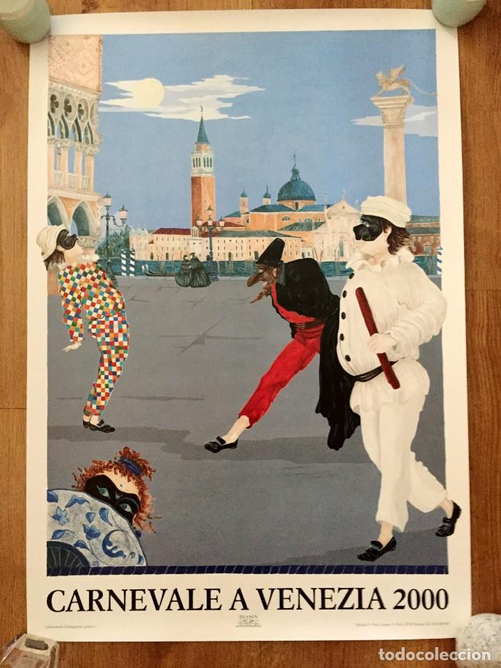 Carteles Feria: Lote de 2 carteles de Carnaval de Venecia de los años 2000_2002 en muy buen estado - Foto 8 - 230587020