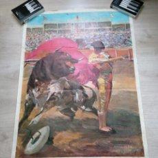 Carteles Feria: MAGNÍFICO CARTEL TOROS FIESTAS DE LA VIRGEN BLANCA 1967 VITORIA - FOURNIER, ANTONIO CASERO. Lote 233510805