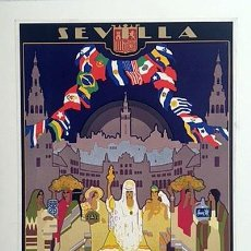 Carteles Feria: CARTEL. SEVILLA. EXPOSICIÓN IBERO-AMERICANA 1929-1930 (CARTEL LITOGRÁFICO ORIGINAL DE ÉPOCA 36 X 21. Lote 234539495