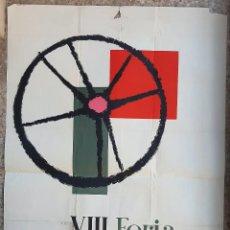 Carteles Feria: CARTEL VIII FERIA MUESTRAS BILBAO 1957 ELEXPURU LITOGRAFIA ORIGINAL PL. Lote 234641745