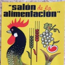 Carteles Feria: CARTEL FERIA SALON DE LA ALIMENTACION MADRID 1960 LITOGRAFIA ORIGINAL PL. Lote 234642055