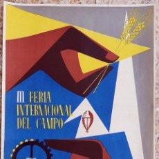 Carteles Feria: CARTEL FERIA INTERNACIONAL DEL CAMPO MADRID 1956 DNS LITOGRAFIA ORIGINAL PL. Lote 234643660