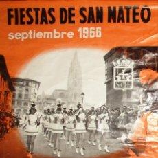 Carteles Feria: CARTEL DE LAS FIESTAS DE SAN MATEO Y DÍA DE AMÉRICA EN ASTURIAS. OVIEDO, 1966.. Lote 235151910