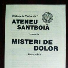 Carteles Feria: PROGRAMA DE TEATRE AL ATENEU SAMBOIA 1984 A SANT BOI DE LLOBREGAT, AMB EL GRUP DE TEATRE DE L´ATANEU. Lote 235577485