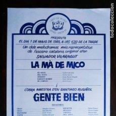 Carteles Feria: PROGRAMA DE TEATRE AL ATENEU SAMBOIA 1985 A SANT BOI DE LLOBREGAT GRUP DE TEATRE DE L´ATENEU. Lote 235579105