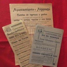 Carteles Feria: 3 CARTEL DE ESPECTÁCULOS EN ALGEMESÍ. VALENCIA.. Lote 235921680