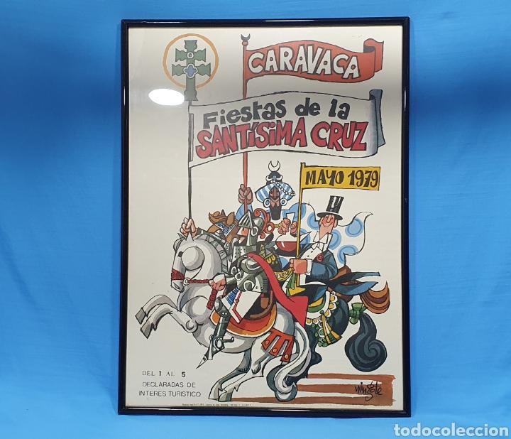 CARTEL DE MINGOTE - FIESTAS DE LA SANTÍSIMA CRUZ DE CARAVACA - MAYO 1979 - GUTENBERG ALICANTE (Coleccionismo - Carteles Gran Formato - Carteles Ferias, Fiestas y Festejos)