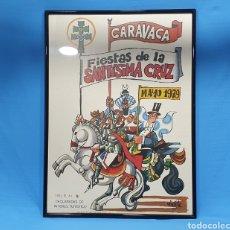 Affissi Fiera: CARTEL DE MINGOTE - FIESTAS DE LA SANTÍSIMA CRUZ DE CARAVACA - MAYO 1979 - GUTENBERG ALICANTE. Lote 236350475