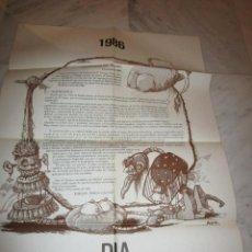 Carteles Feria: 2891. DIA MUNDIAL DEL TEATRO 1986. TIERNO GALVAN. ( 60 X 83 CENTIMETROS). Lote 238500830