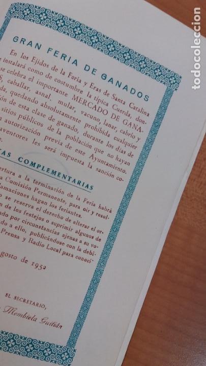 Carteles Feria: ALBACETE. Programa de feria, año: 1952. Buena conservación - Foto 4 - 240628450