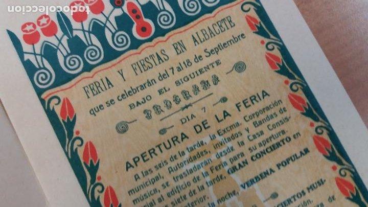 Carteles Feria: ALBACETE. Escaso Programa de Feria, año: 1932. Buena conservación - Foto 2 - 240629670